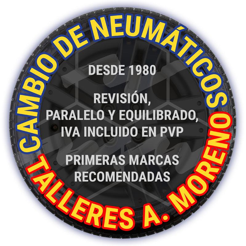 Neumáticos A. Moreno: cambia tus neumáticos en Villalba con el servicio líder en sustitución, paralelo y equilibrado de ruedas