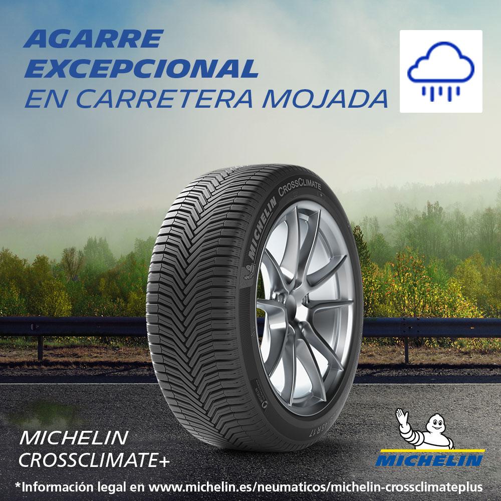 Michelin Crossclimate+. Agarre excepcional en carretera mojada.