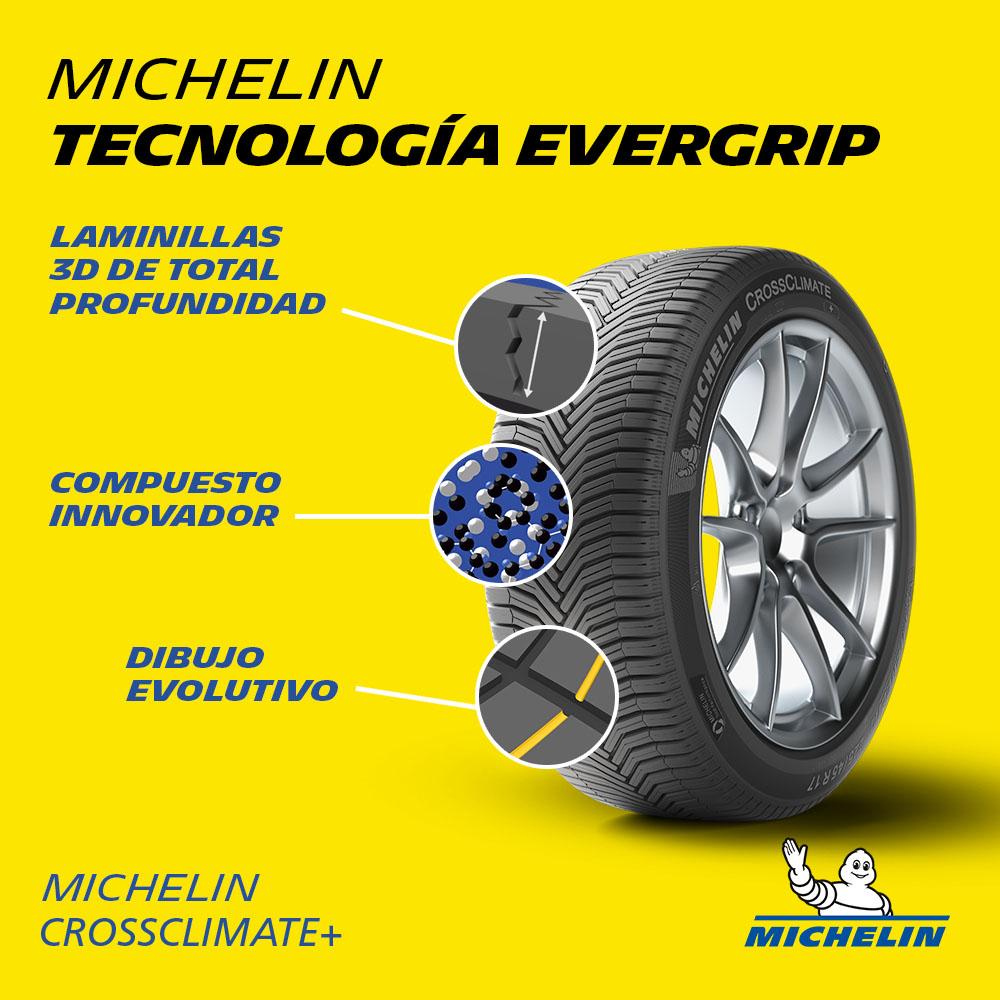 Michelin Crossclimate+. Tecnología Evergrip