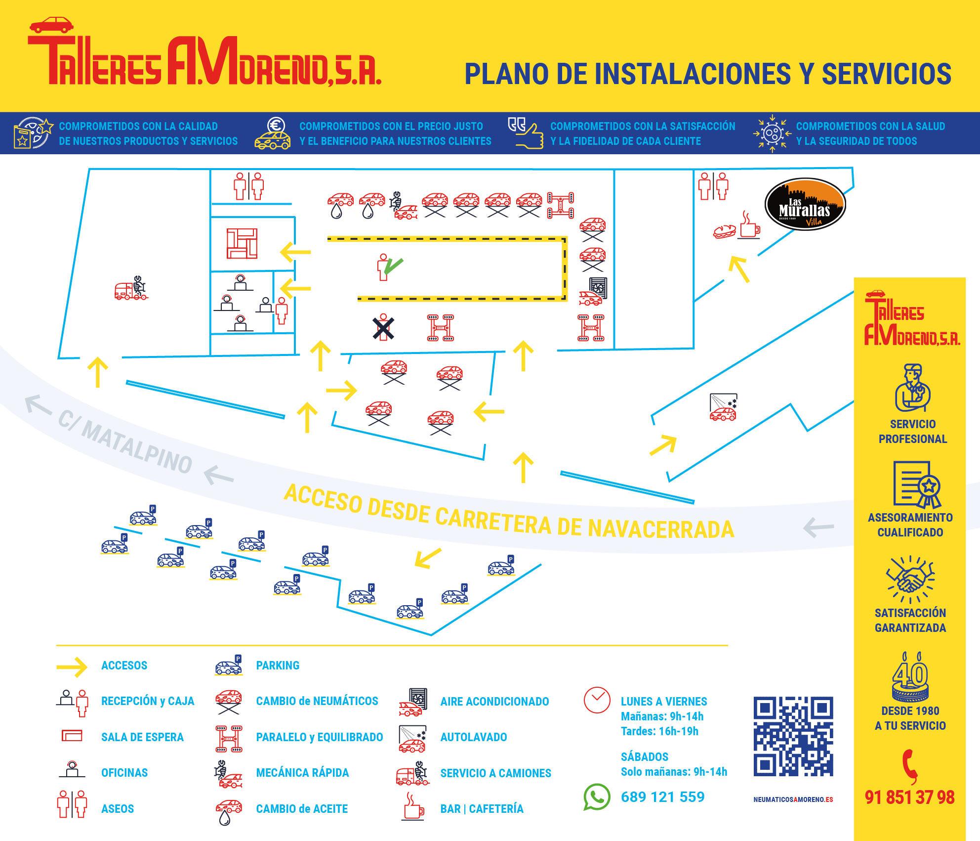 Talleres A. Moreno: Tu taller de confianza para el cambio de neumáticos y mecánica rápida en Collado Villalba, Madrid
