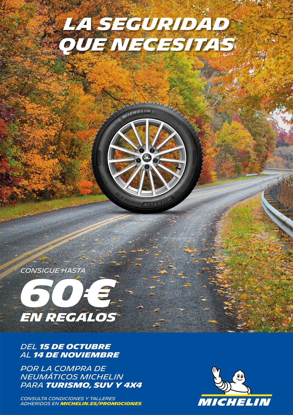 Neumáticos A. Moreno: Consigue hasta 60€ en regalos con neumáticos Michelin
